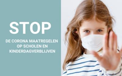 Stop de coronamaatregelen op kinderdagverblijven, basisscholen en middelbare scholen. Teken de petitie!