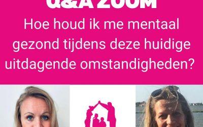17 juni Q&A hoe houd ik me mentaal gezond?
